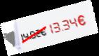 13,34 €