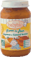 Babybio menu du jour : légumes et canard fermier : Dès 8 mois : 200g