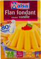 Alsa : flan fondant saveur vanille : Sans conservateur : 4 flans