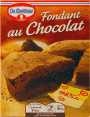 Dr Oetker : fondant au chocolat : Sans colorant : 8 parts