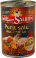 William Saurin : petit sale aux lentilles : bacon and lentils : 420g