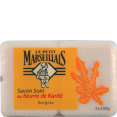 Le Petit Marseillais : savon soin : Beurre de karité : 2 x 100g