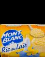 Mont Blanc : riz au lait : Nature : 4 x 125g