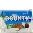 Bounty : noix de coco et chocolat : barres chocolatées : 2 fois 5