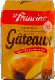 Francine : farine pour gâteaux : farine de blé avec poudre levante : 1kg