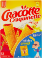 Lu : Cracotte Craquinette fraise : strawberry-filled Craquinettes : 12
