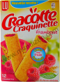 Lu : Cracotte Craquinette framboise : raspberry-filled Craquinettes : 12