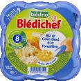 Blédina Blédichef : riz et colin : Dès 8 mois : 200g