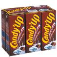 Candia : Candy'Up - Boisson lactée chocolatée en mini-briques  : Laits aromatisés : 6 briquettes de 20 cl