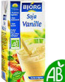 Bjorg : Soja vanille BIO - Boisson au soja à la vanille biologique  : Bio-Soja-Chèvre : 1 L