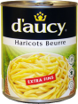 D'aucy : Haricots beurre extra-fins : Haricots beurre : 800 g