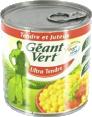 Géant Vert : Maïs tendre sans sucres ajoutés : Maïs : 285 g