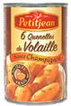 Petitjean : Quenelles de volaille sauce champignon : Quenelles : 400 g