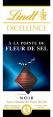 Lindt : Fleur de sel - Chocolat noir et pointe de fleur de sel  : Noir de dégustation : 100 g