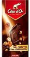 CÔte D'or : Chocolat noir aux noisettes  : Noir fourrés : 200 g