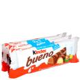 Kinder : Bueno - Gaufrettes enrobées de chocolat lait fourrées noisettes  : Barres chocolatées : 3x2 barres