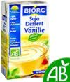 Bjorg : Dessert de soja à la vanille - Bio  : Crèmes Desserts : 525 g