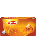 Lipton : Orange Jaïpur : Thé aromatisé orange : 20 sachets mousseline