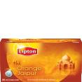 Lipton : Orange Jaïpur - Thé aromatisé orange  : Thés Classiques ou d'Origine : 20 sachets mousseline
