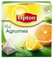 Lipton : Thé aromatisé agrumes sachets pyramide : Thés parfumés : 20 sachets