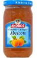 Andros : Confiture d'abricots allégée  : Allégées : 350 g