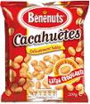 Benenuts : Cacahuètes grillées et salées  : Cacahuètes : 200 g