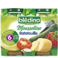 Bledina : Mousseline - Petit pot ratatouille dès 6 mois  : Légumes : 2 x 200 g