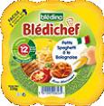 Bledichef : Spaghettis bolognaise : Dès 12 mois : 230 g