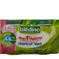 Bledina Mon 1er petit pot : haricot vert : For babies 4 months and older : 2 x 130g