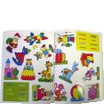 Piccolia : Color 128 autocollants- Clown : Livre pour enfant : Unité