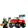 Lego : La voiture des pompiers City     : Jouets enfants : Unité