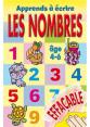 Piccolia : J'écris J'efface : Apprends à écrire les nombres : livre pour enfant