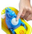 Tomy : Hippo pedalo     : Jouets enfants : Unité