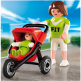 Playmobil : Maman avec bébé et poussette    : Jouets enfants : Unité