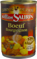William Saurin : boeuf bourguignon : Cuisiné au vin rouge : 400g