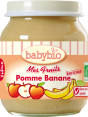 Babybio Mes fruits : pomme banane : Apple & banana : 4 months and older