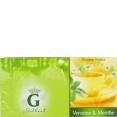 Gilbert : infusion verveine menthe : Verbena mint herb tea : 25 bags