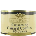 Duc de Pressac : confit de canard : Cuisine du Sud-Ouest : 4 cuisses