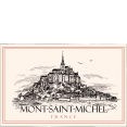 French craft : decorative tea towel : Mont St Michel : from France