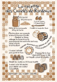 French craft : decorative tea towel : Canneles recipe : from France