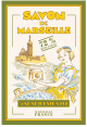 French craft : decorative tea towel : Savon de Marseille : from France
