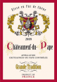 French craft : decorative tea towel : Chateauneuf-du-Pape : French wine