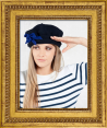 """Laulhere : French beret """"Tuileries"""" : For women : Made in France"""