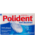 Polident : nettoyant prothèse : Anti bactérien : boîte de 30