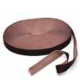 Ruban velours : marron : 2cm large : 1 mètre