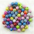 Beads : mixed color acrylic : 8mm  : x10