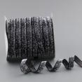 Ruban velours : gris métallisé : 10mm large : 1 mètre