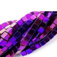 Perles : carrées : Violettes : 2mm lot de 5