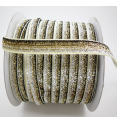 Ruban : velours métallisé : Dégradé or argent : 10mm