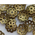 Bead cap : bronze color : Flower shape : 6 mm sold by 2